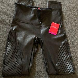 Faux leather moto leggings. NWT